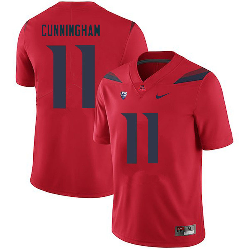 Men #11 Tayvian Cunningham Arizona Wildcats College Football Jerseys Sale-Red